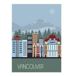 Vancouver Canada vector image