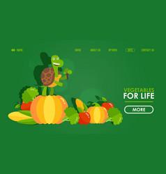 vegetables healthy food website design vector image