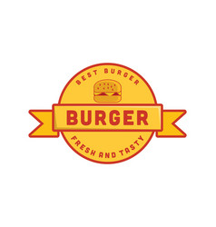 vintage burger logo designs inspiration vector image