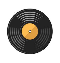 vinyl disc record on white stock vector image