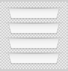 white tabbed labels blank infographic banners vector image