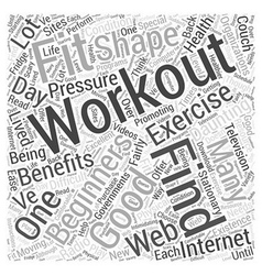 workouts for beginners Word Cloud Concept vector image