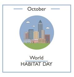 World Habitat Day vector