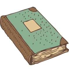 Closed Book or Antique Ledger with Turquoise Cover vector image