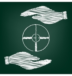 Crosshair Target sign vector image