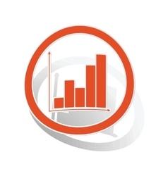 Graphic sign sticker orange vector image vector image