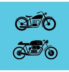 retro motorcycle icons vector image