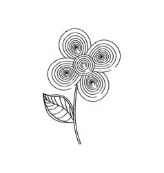 flower decoration design sketch vector image