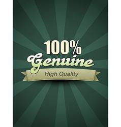 genuine label vector image vector image