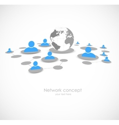 Network background vector image