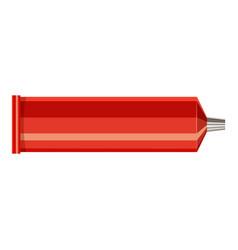 plastic tube icon cartoon style vector image vector image