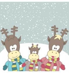 Reindeer vector image vector image