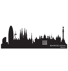 Barcelona Spain skyline Detailed silhouette vector image vector image