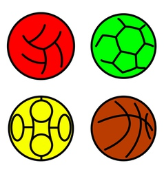 Set sport balls vector image vector image