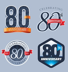 80 Years Anniversary Logo vector image vector image