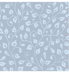 Blue pastel pattern with leaves vector image vector image