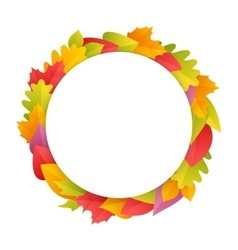 Colorful Autumn Wreath with Copy Space vector image