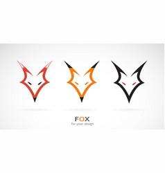 fox head design on a white background wild vector image