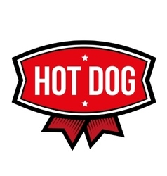 Hot Dog vintage logo vector image