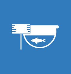 Icon fish in an aquarium vector