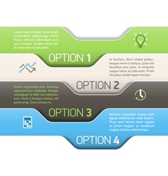 Infographics option design template vector image