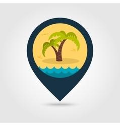Palm tree pin map icon Summer Vacation vector image