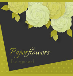 paper flower realistic of white and vector image vector image