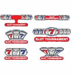 slot tournament vector image vector image