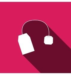 tea bag icon with long shadow vector image