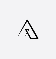 A logo letter sign black logotype line icon vector