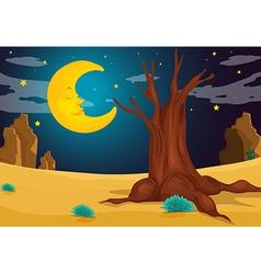 A moonlight evening vector