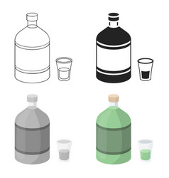 absinthe icon in cartoon style isolated on white vector image