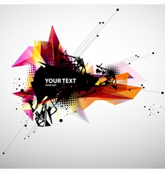 Abstract modern banner vector image