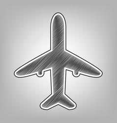 Airplane sign pencil sketch vector
