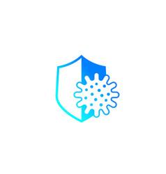 Antibacterial protection icon vector