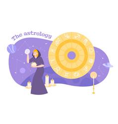 Astrology zodiac flat composition vector