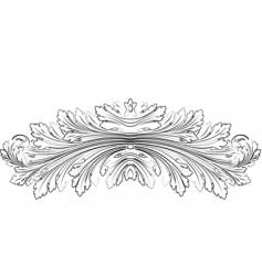 baroque leafs rosette calligraphy style vector image