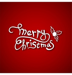 Beautiful text design of Merry Christmas on red vector