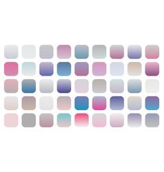 Big set soft gradients combinations swatches vector