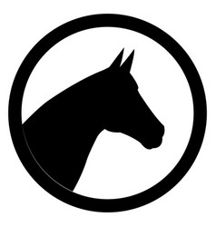 black head horse icon vector image