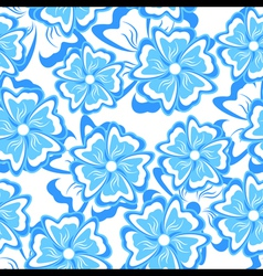 blue seamless background vector image vector image