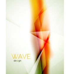 Blur orange abstract background vector image