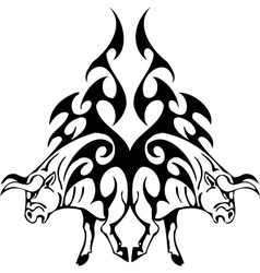 bull in tribal style - image vector image