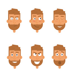 Businessman generation of various expressions vector
