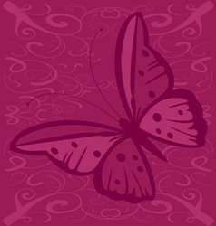Butterfly with spots vector