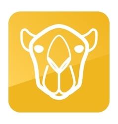 Camel icon Animal head symbol vector image