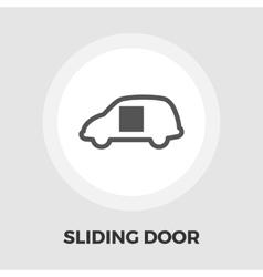 Car sliding door icon flat vector image