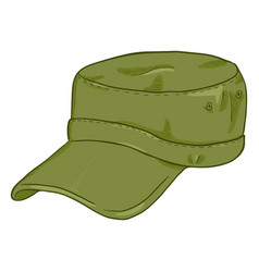 Cartoon army cap summer military head gear vector