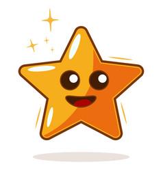 cartoon star icon vector image