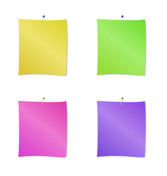 collection of different colored sheets of note vector image